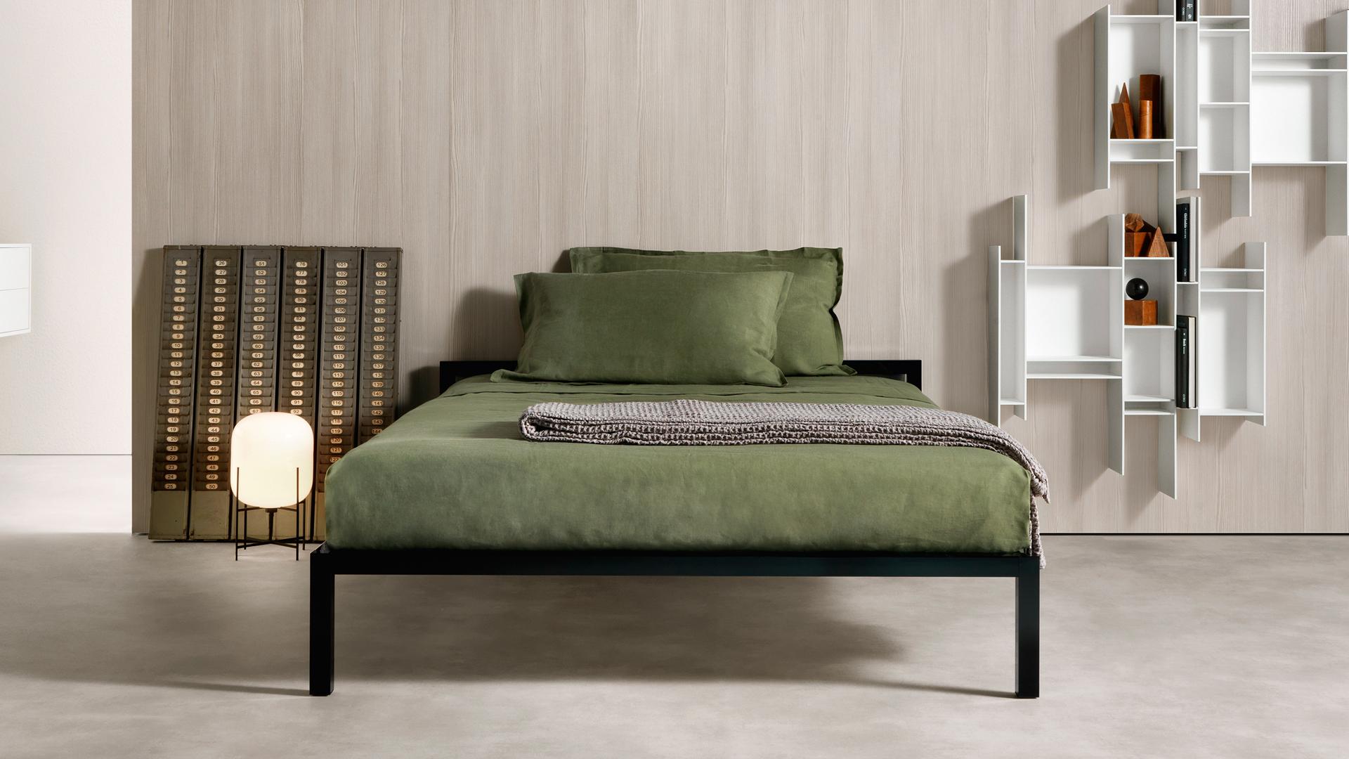 Il letto, oasi di riposo.